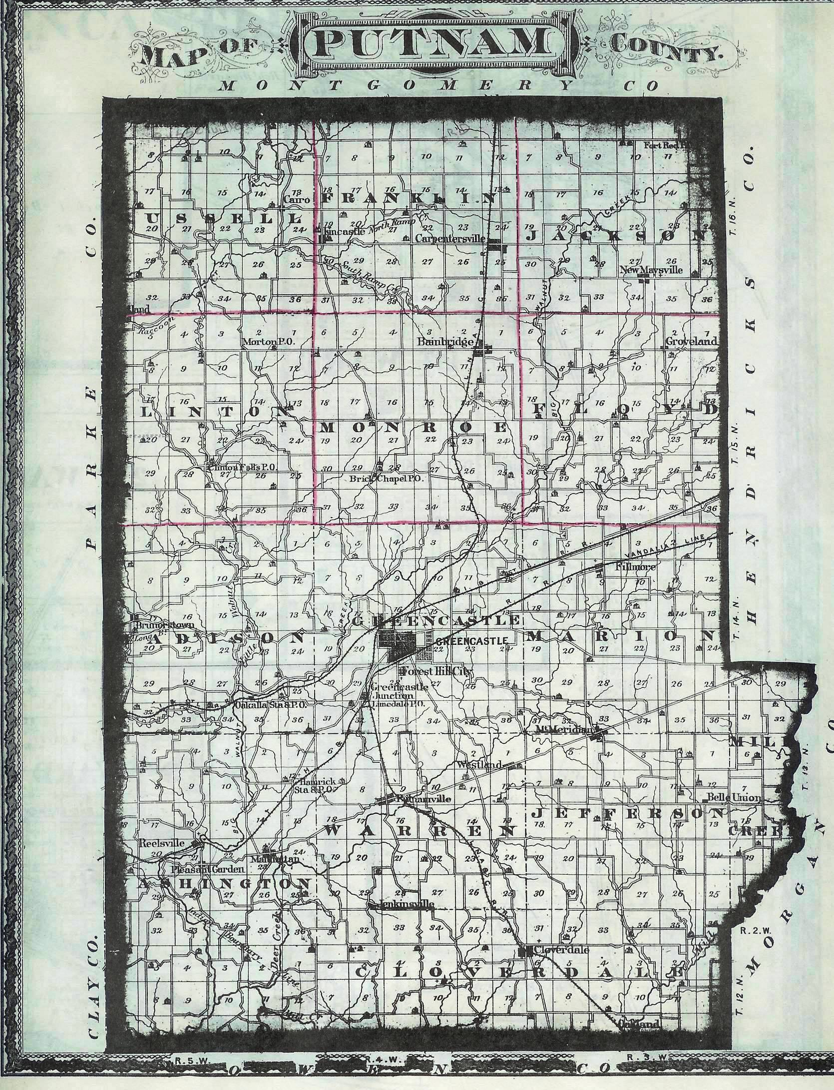 MAPS OF PUTNAM COUNTY CEMETERIES